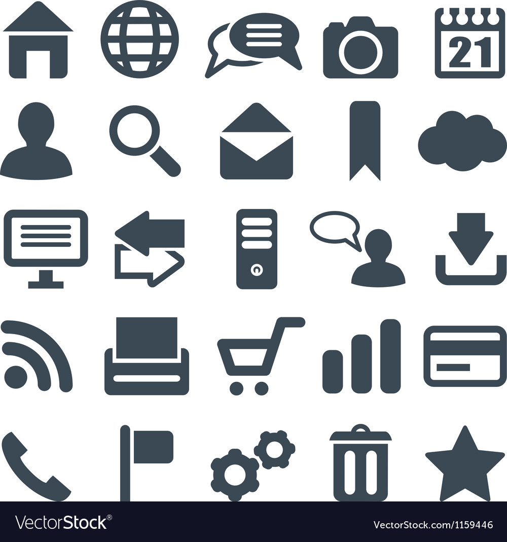 Universal set of icons for web and mobile