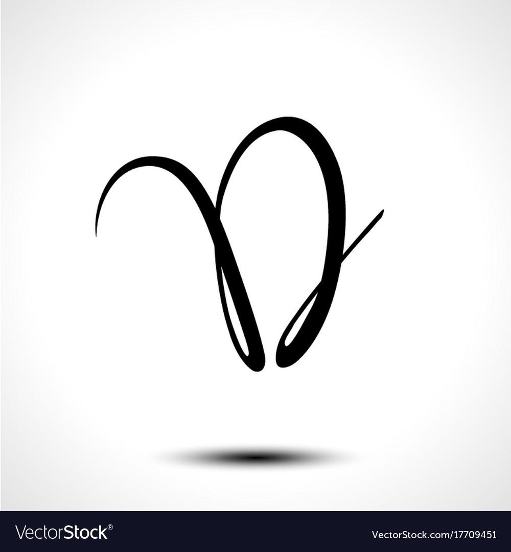 Alphabet Letter D Lettering Calligraphy Vector Image