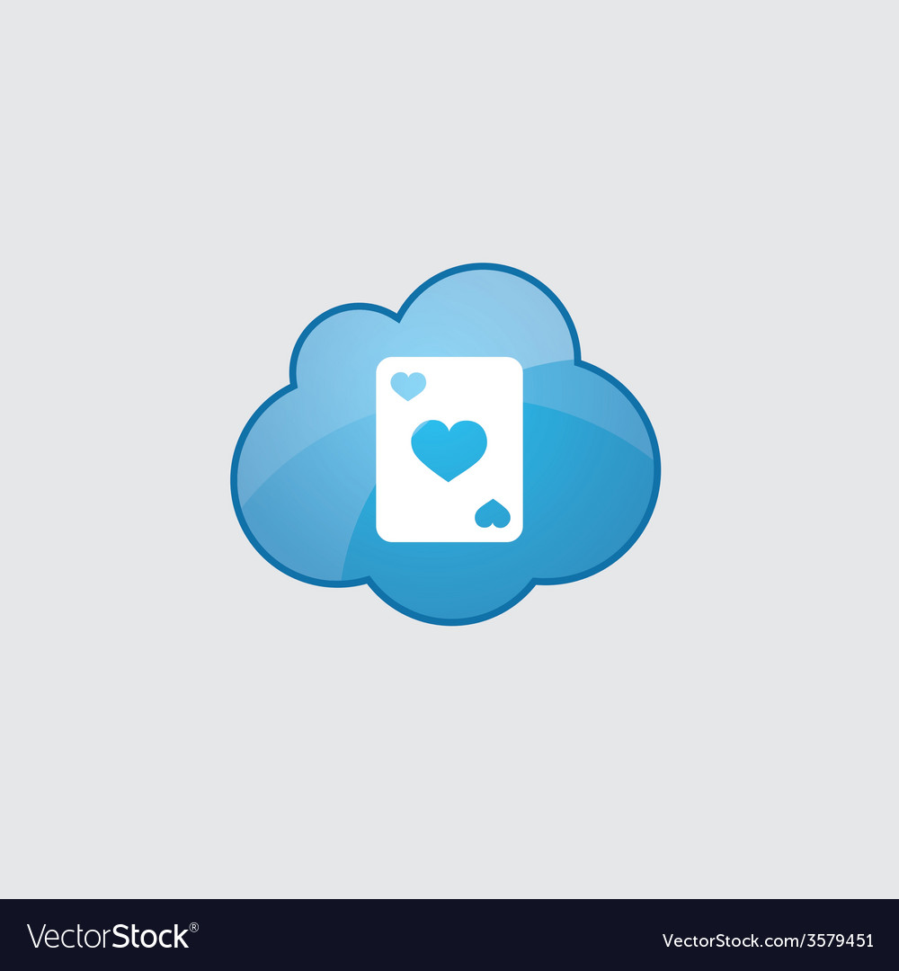 Blue poker icon