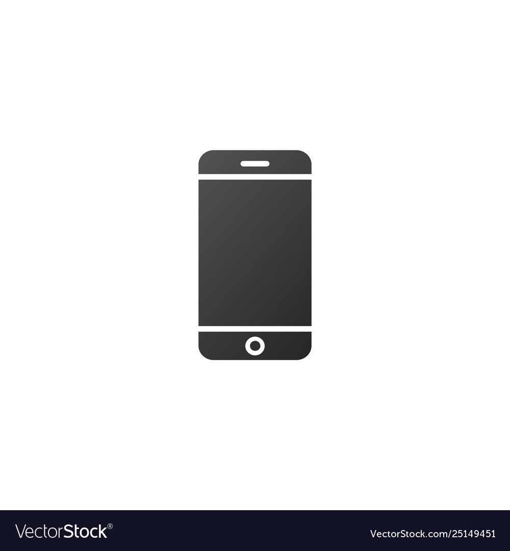 Cell phone or contact icon isolated on white