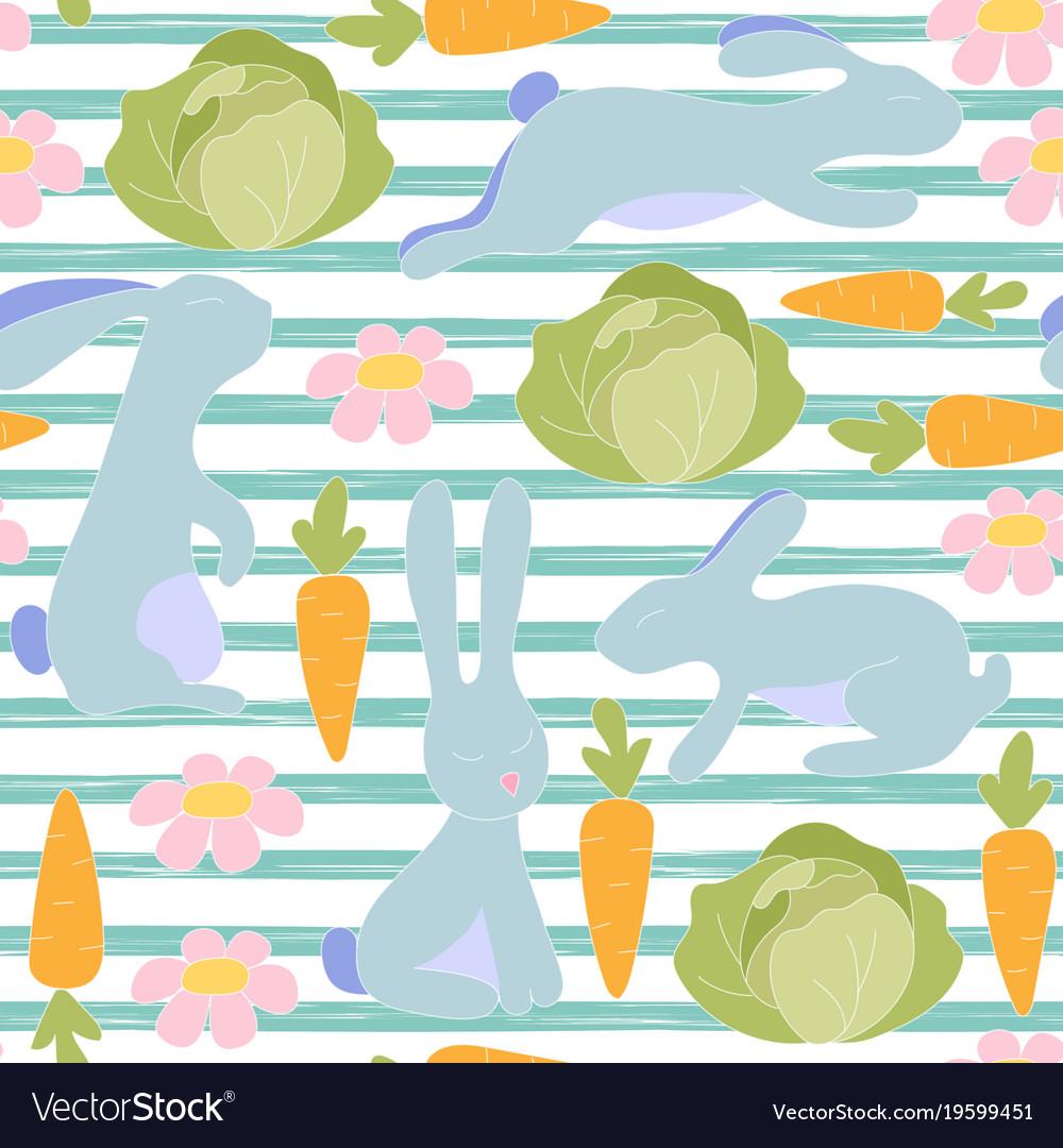 Seamless little bunny pattern