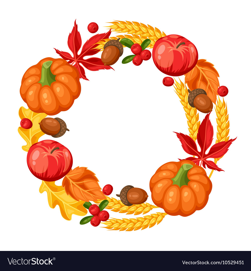 Thanksgiving Day or autumn frame Decorative