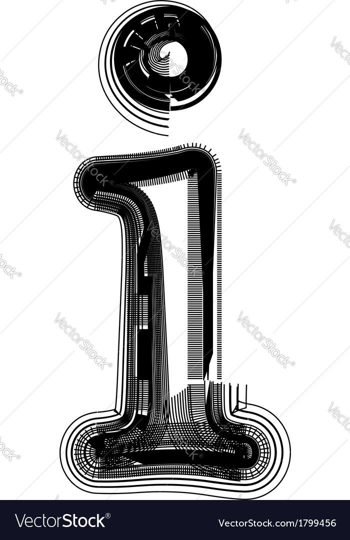 Abstract font letter i vector image