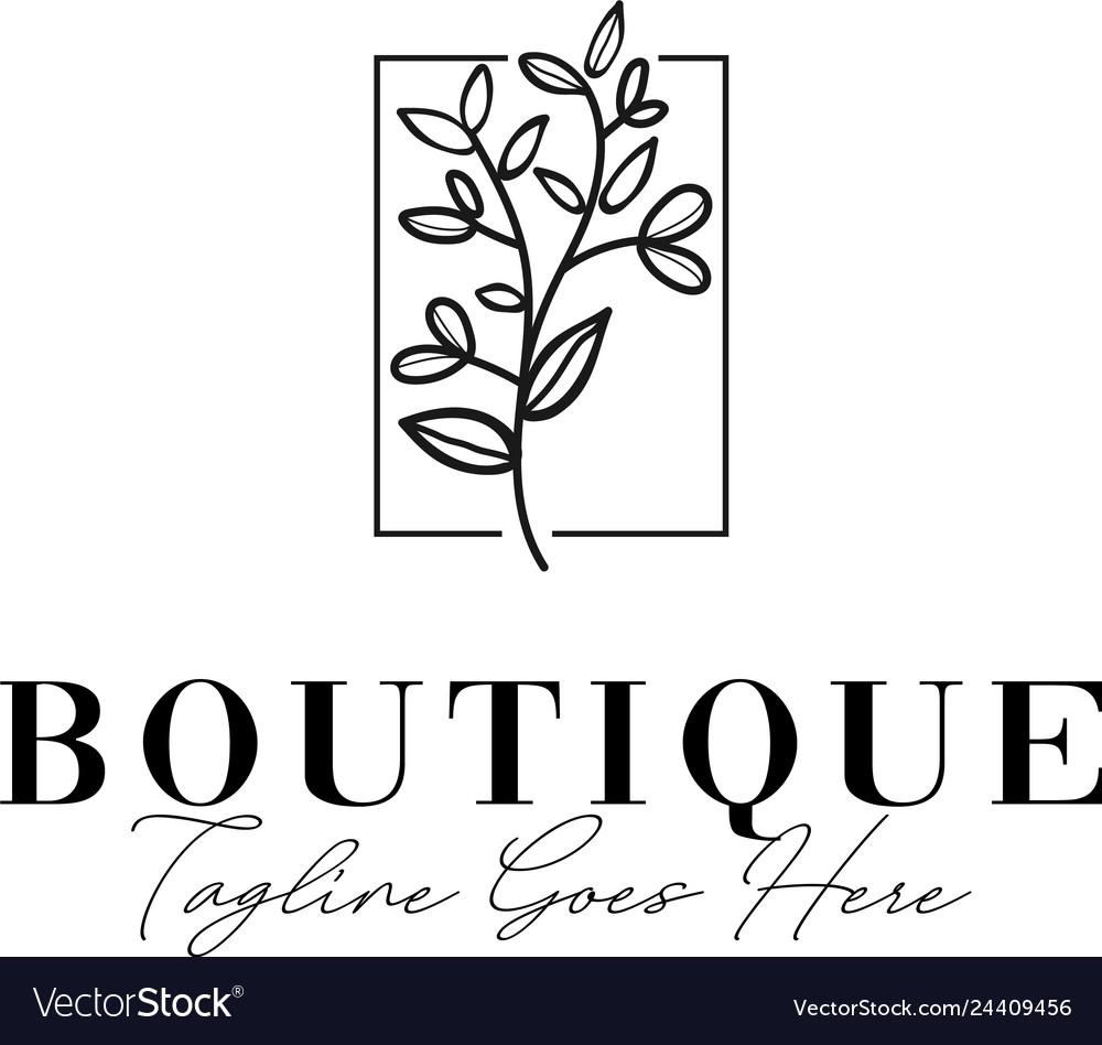 Beauty flower logo design