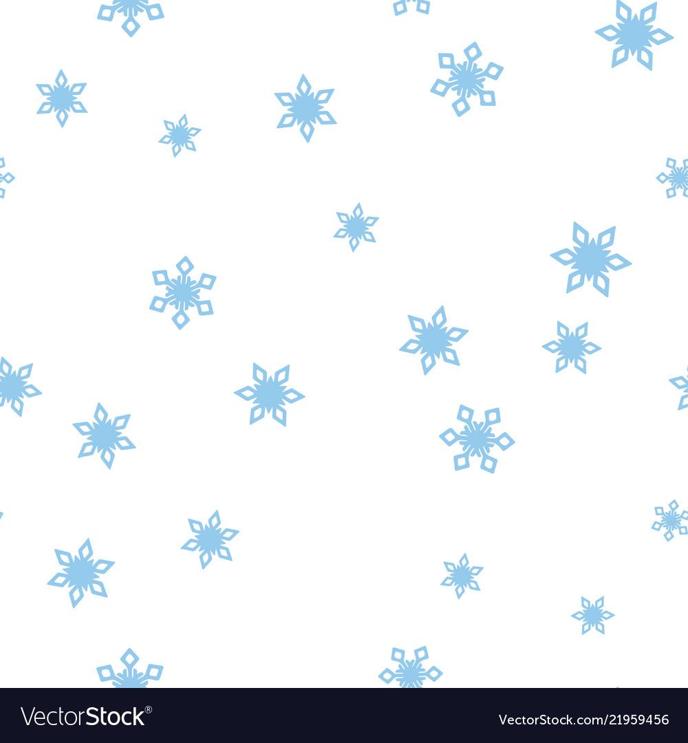 Blue snowflakes on a white background seamless