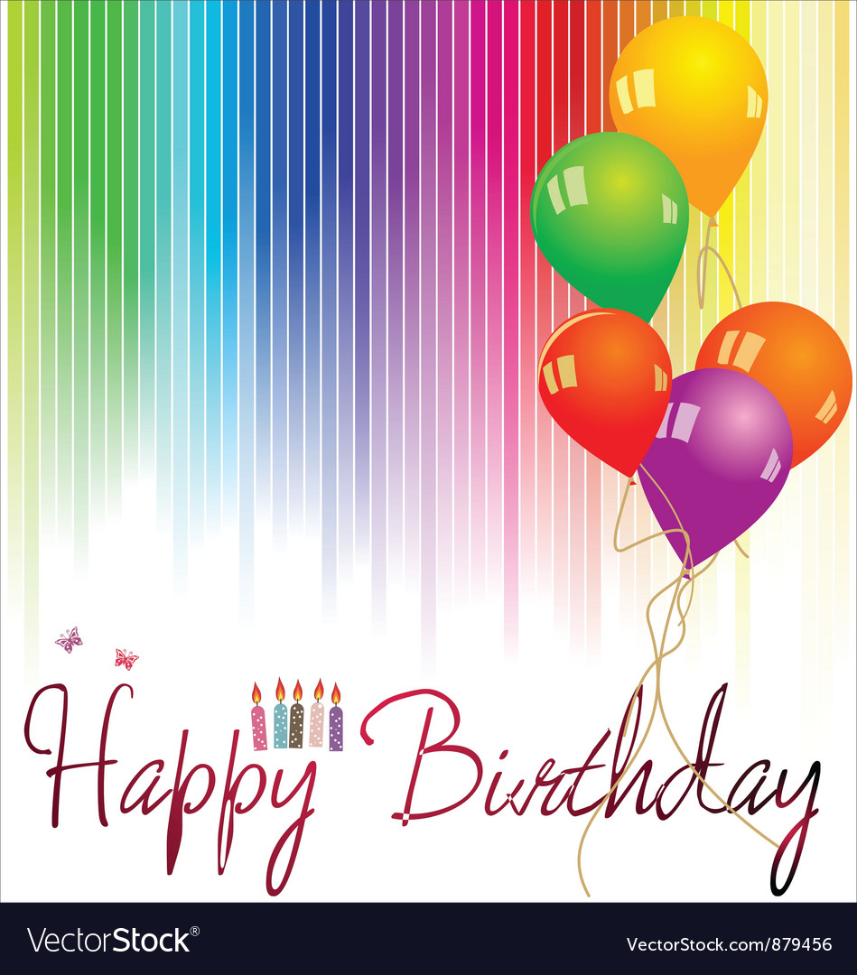 Happy birthday background royalty free vector image - Happy birthday card wallpaper ...