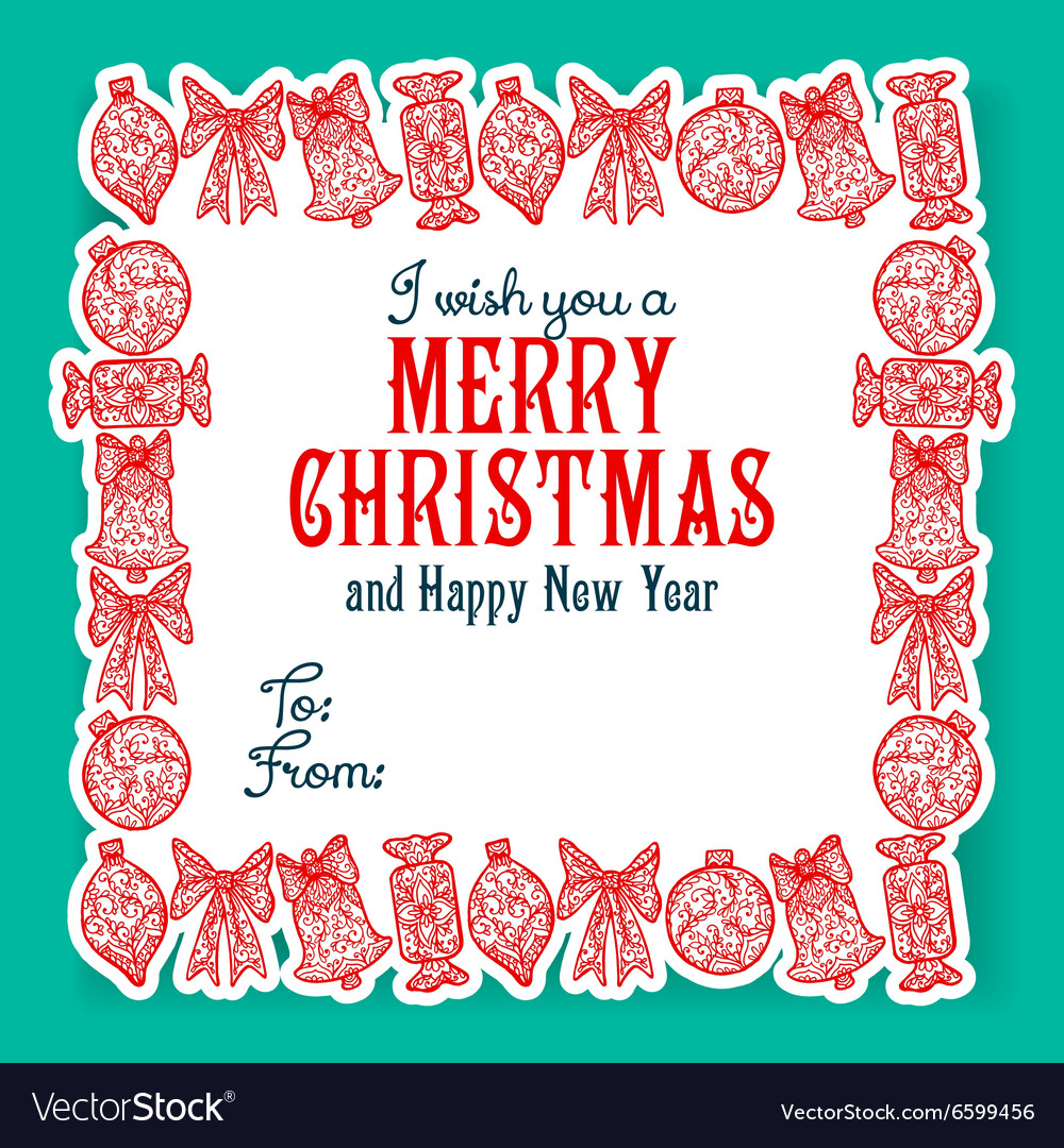 I wish you a Merry Christmas lettering Royalty Free Vector