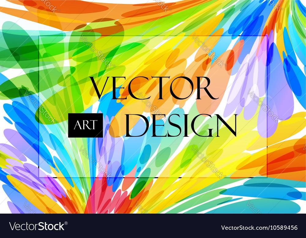 Multicolored background brush strokes