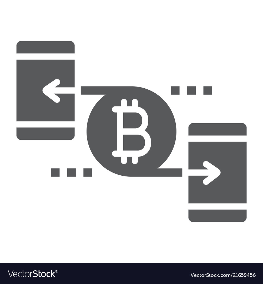 Peer to peer glyph icon money and finance