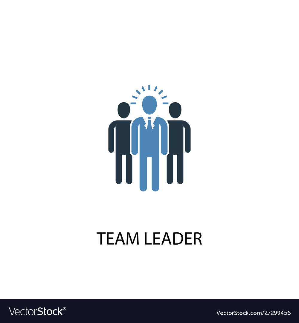 Team Leader Concept 2 Colored Icon Simple Blue Vector Image