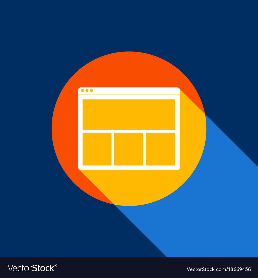 Web window sign white icon on tangelo