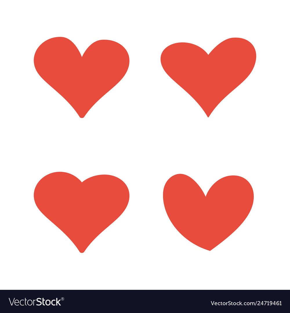 Hand drawn hearts set design element