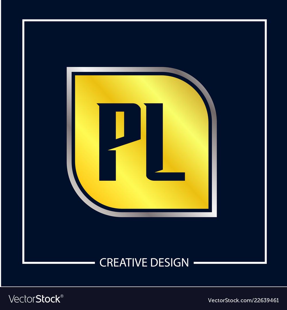 initial letter pl logo template design royalty free vector