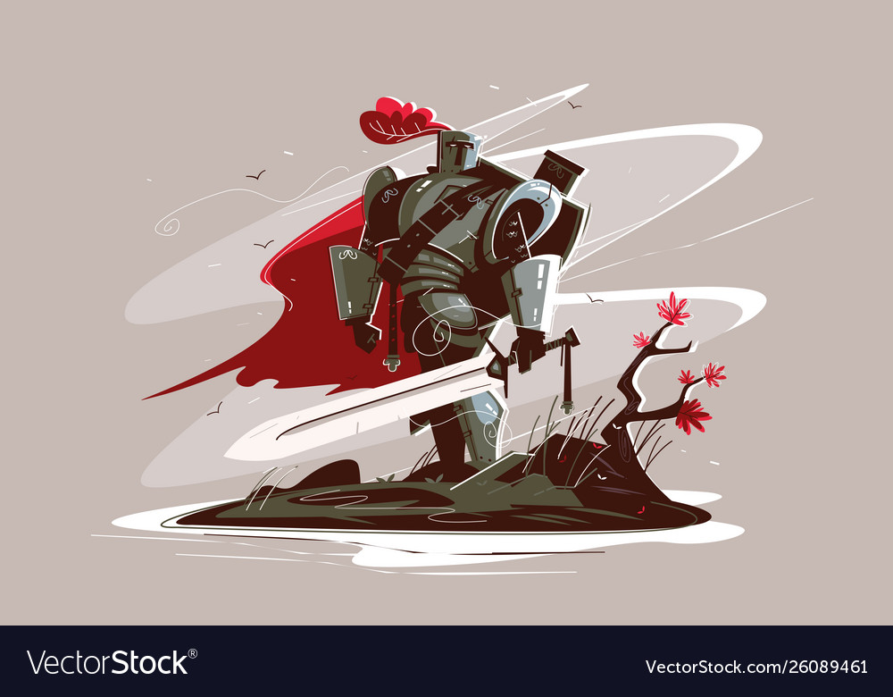Medieval strong knight