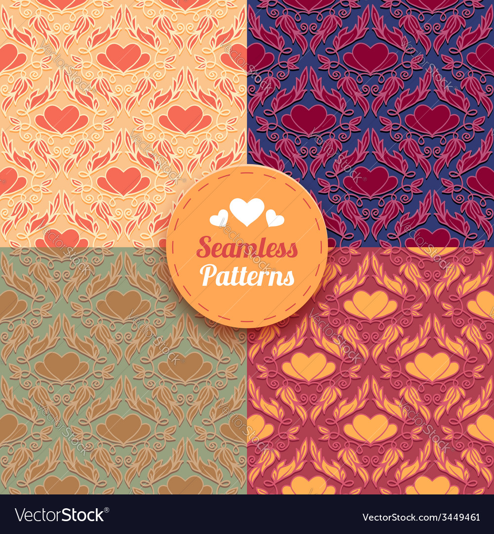 Seamless patterns tiling vector image