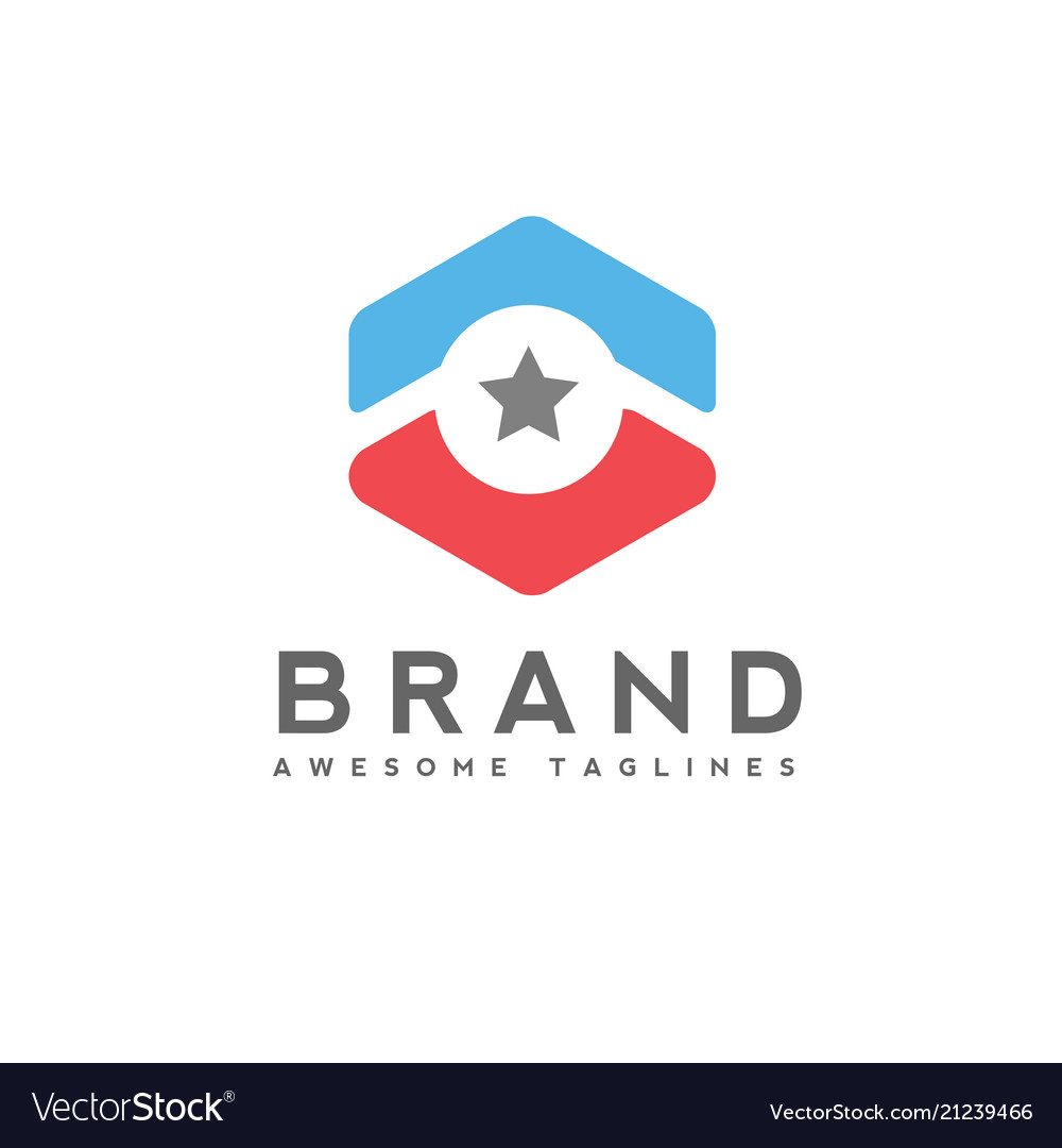 Arrow up circle and star business logo