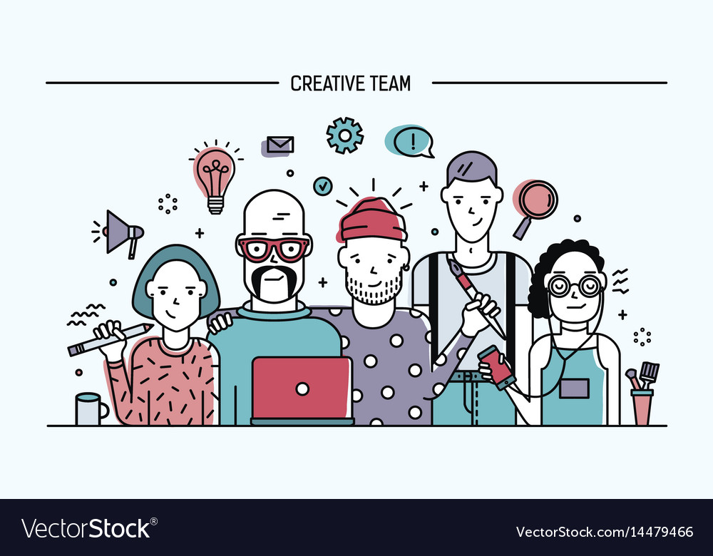 Creative business team concept banner with
