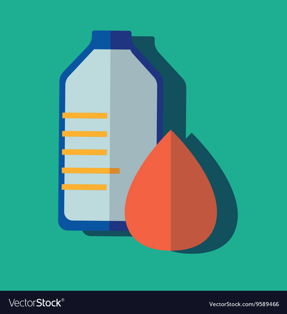 Donate blood bag on green background