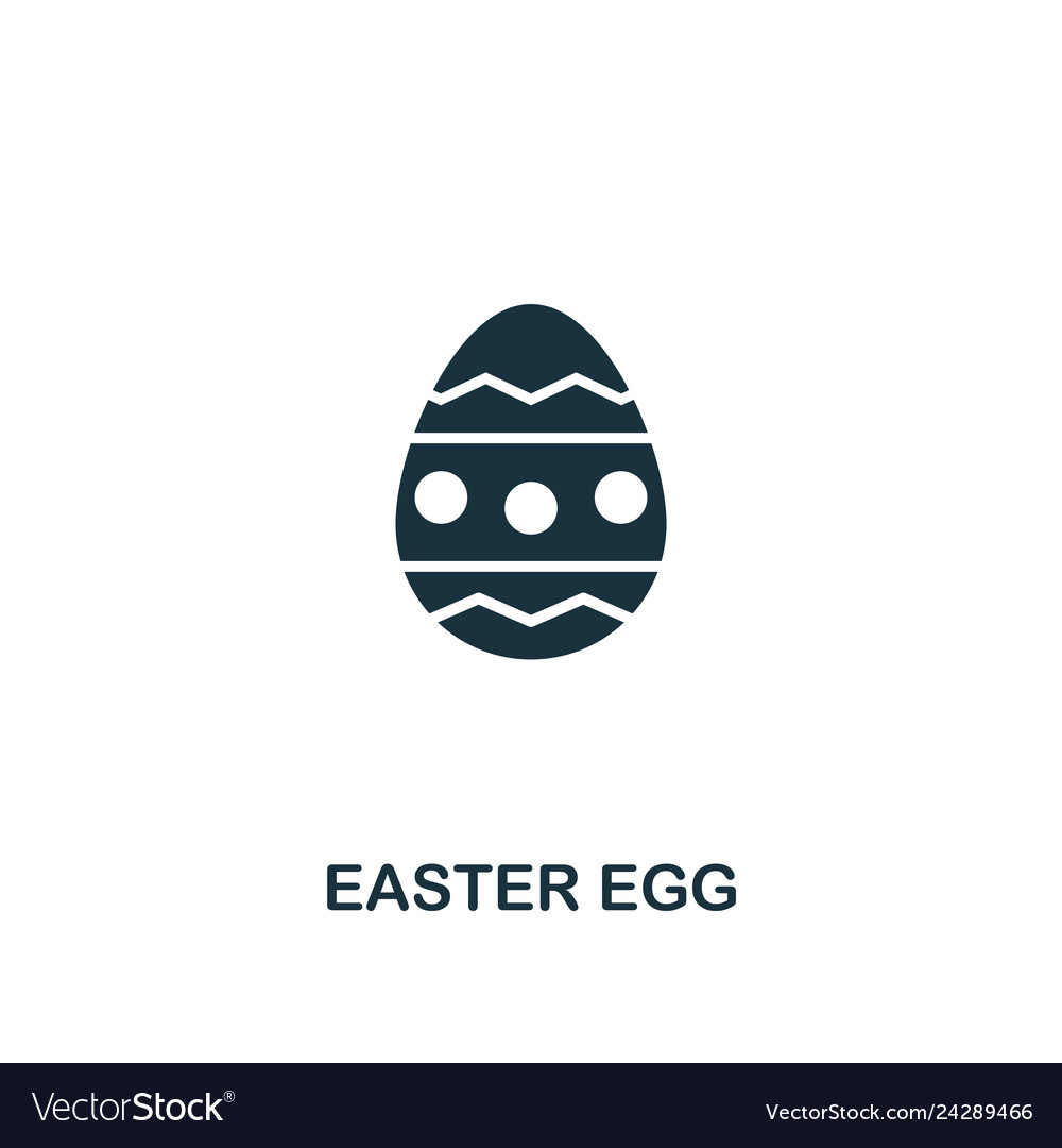 Easter egg icon creative element design from