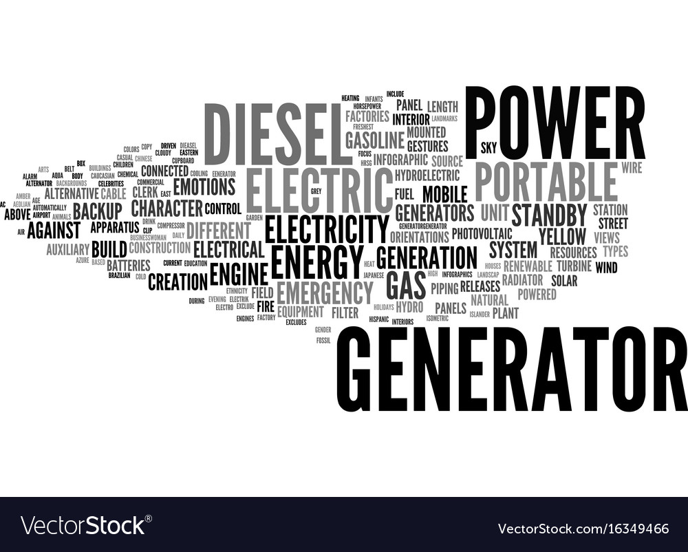 Generator word cloud concept