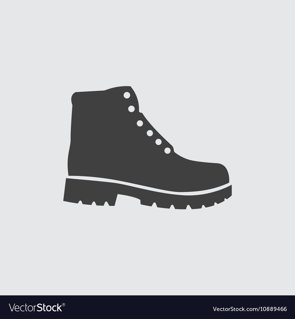 Hiking boots icon