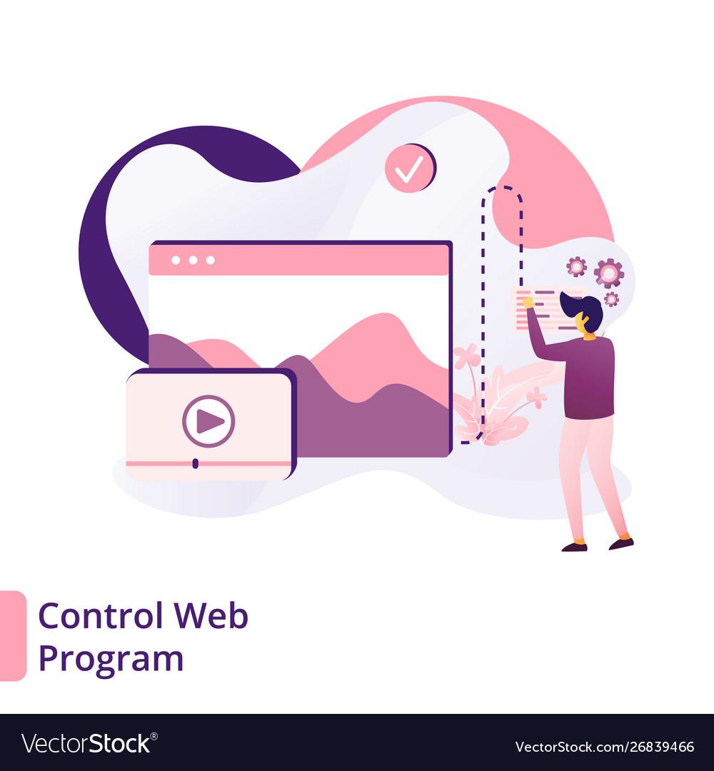 Landing page control web program modern