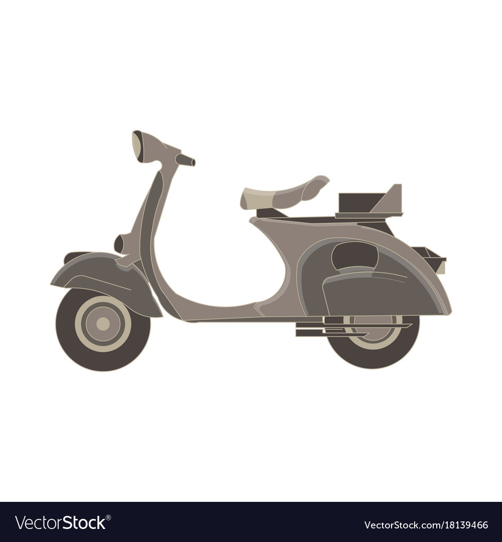 Scooter flat icon delivery bike side view