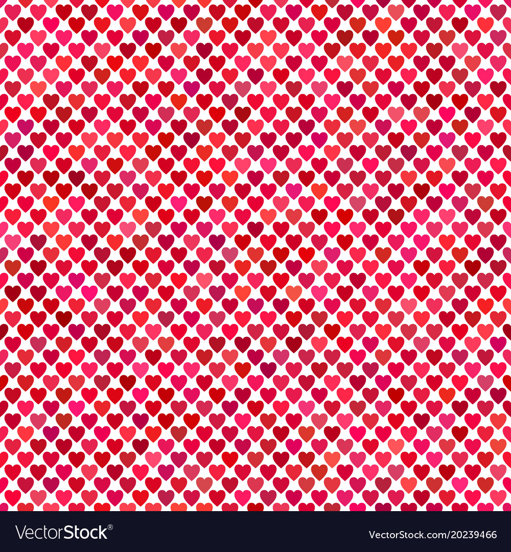 Seamless red heart background pattern design vector image