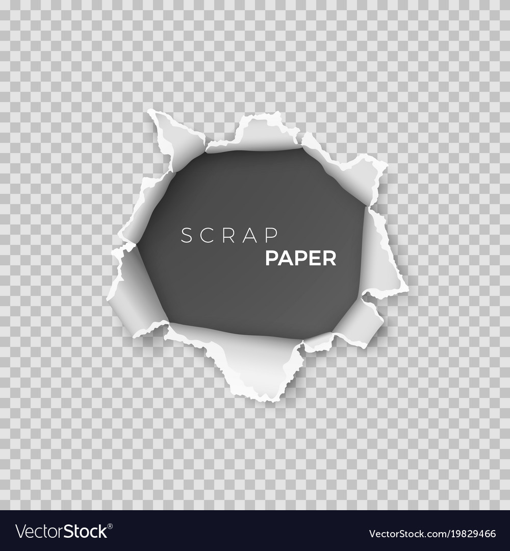 Sheet of paper with hole inside template vector image