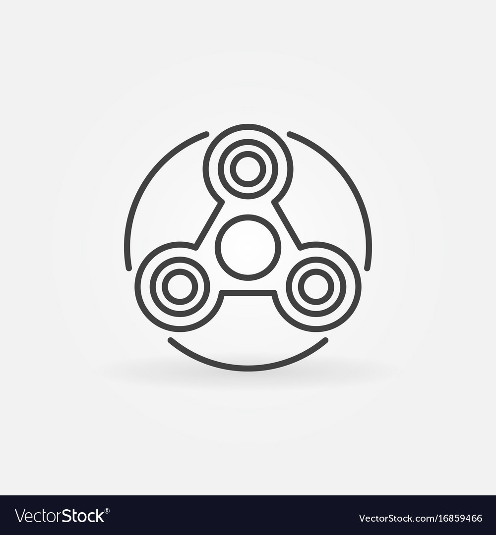 Simple fidget spinner icon