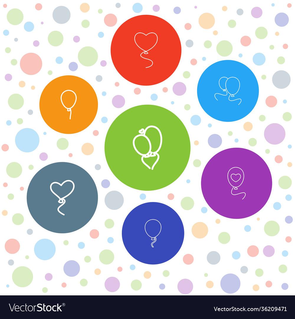 7 ballon icons