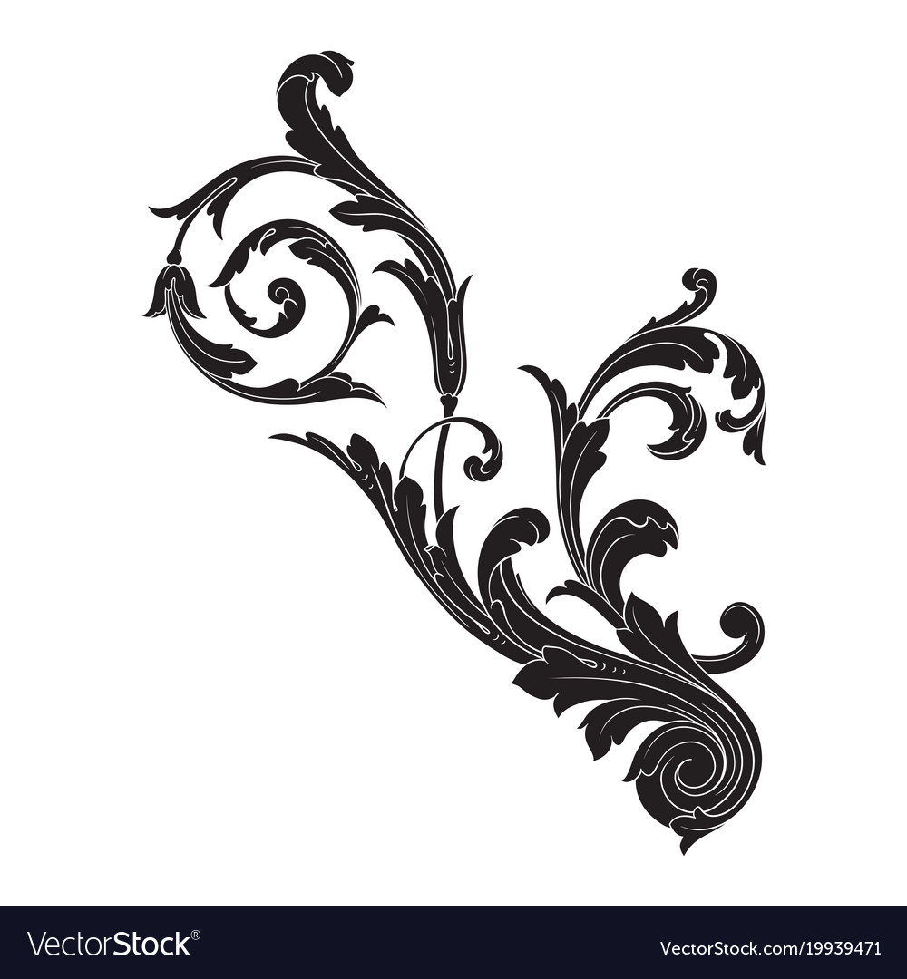 Baroque ornament in victorian style