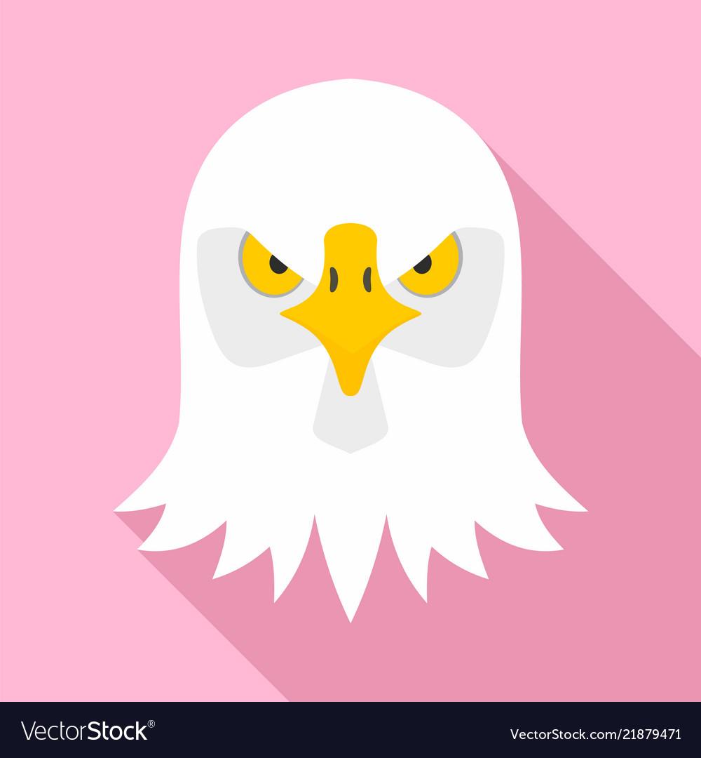 Eagle head icon flat style