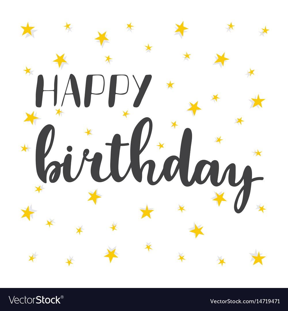 Happy birthday greeting card greeting logotype