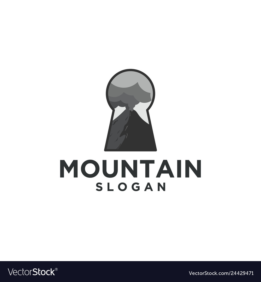 Mountain and key logo designs