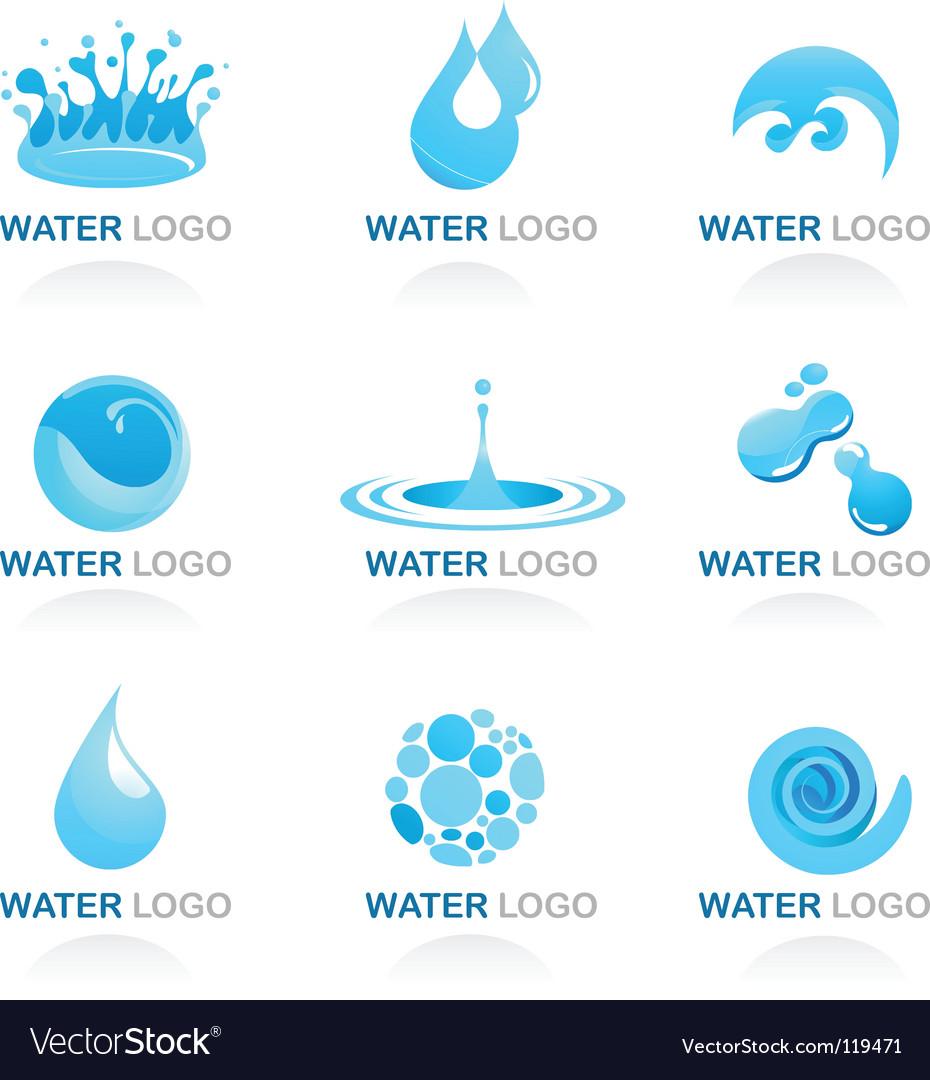 Nature logos 03 water theme