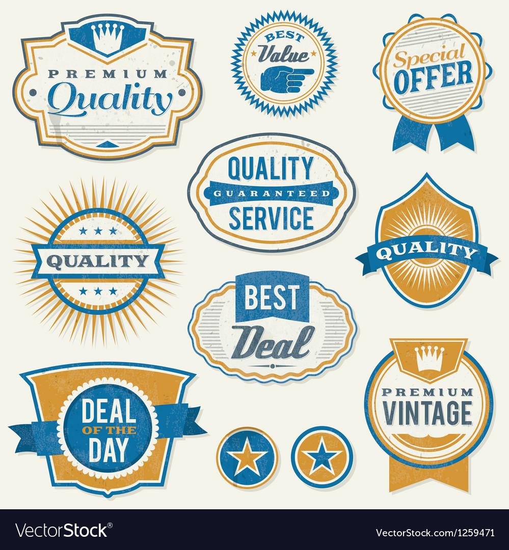 Retro vintage retail labels