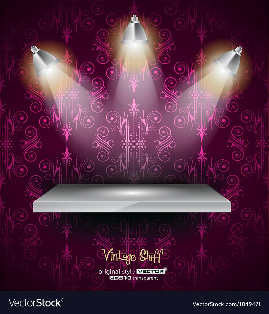 Shelf with 3 LED spotlights