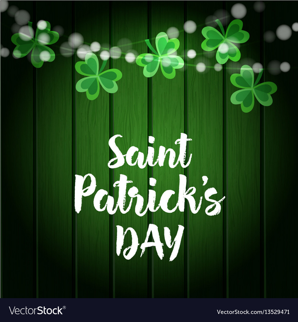 St patricks day green wooden background with