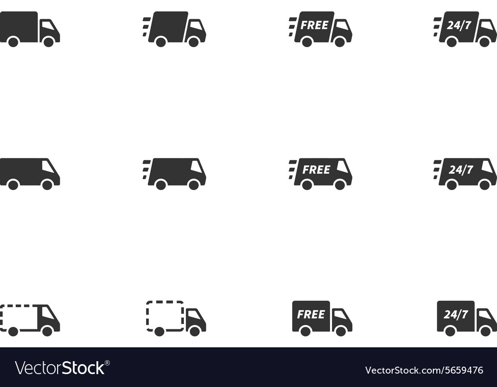 12 Delivery Icons vector image