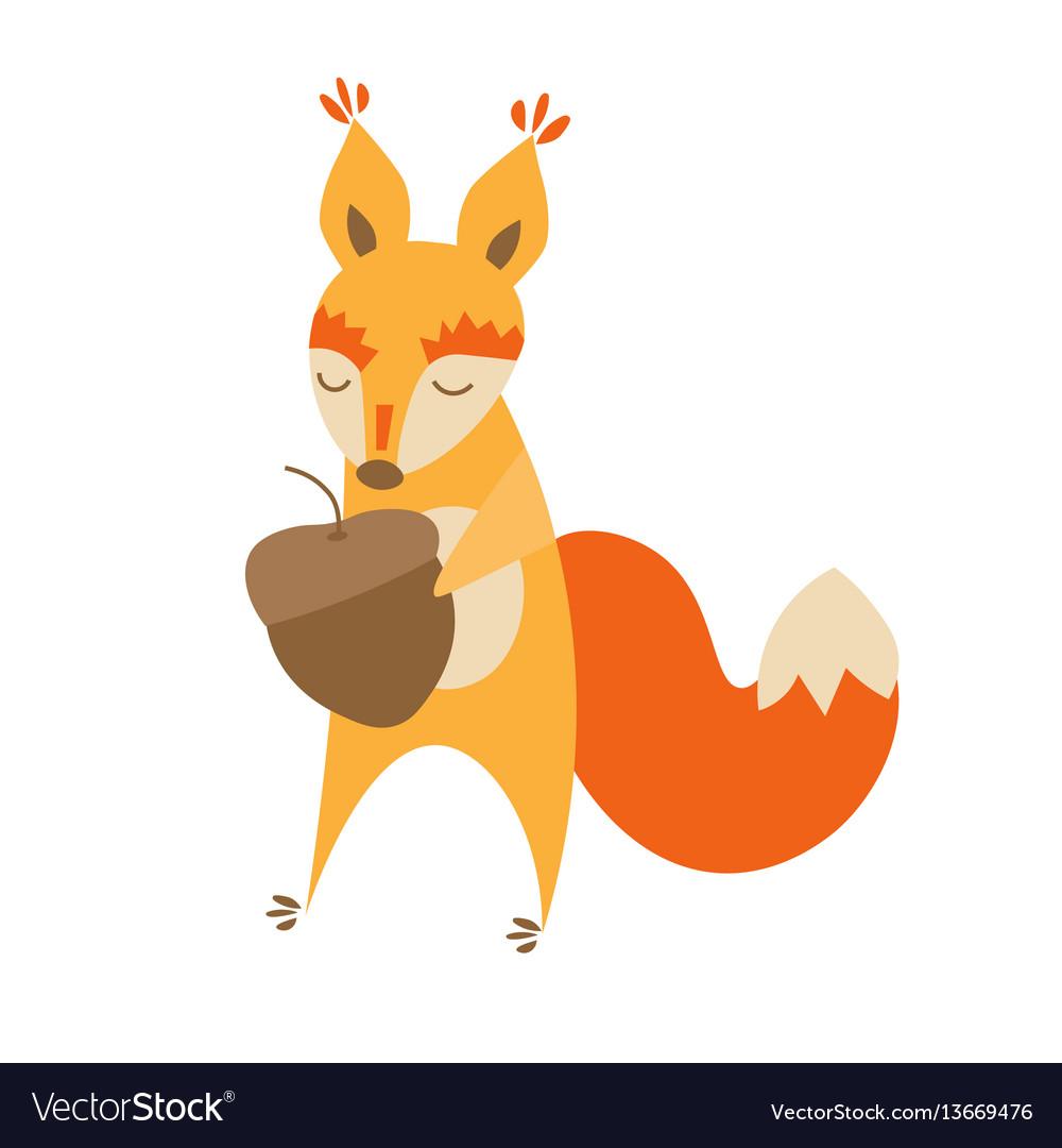 Cartoon cute squirrel animal