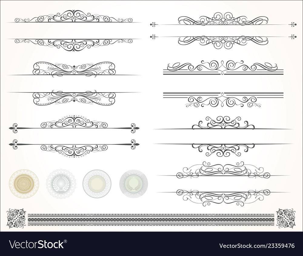 Decorative design calligraphy elements