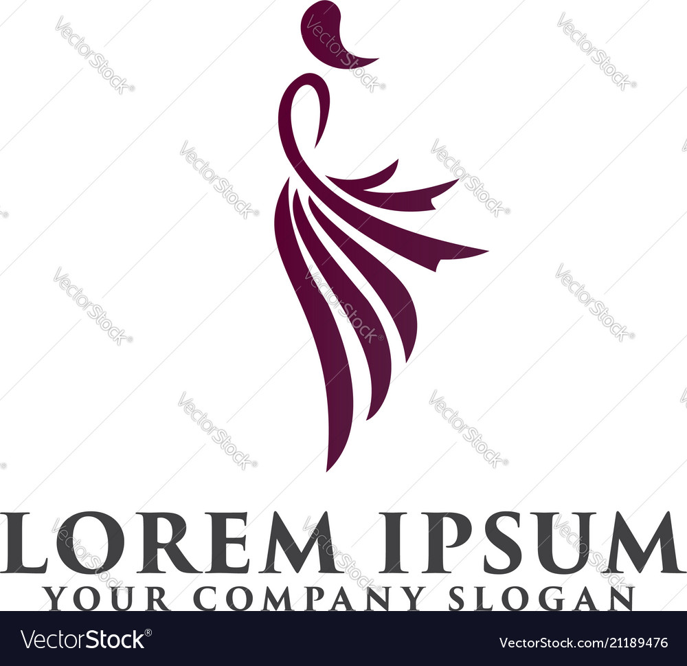 Fashion People Logo Design Concept Template Vector Image