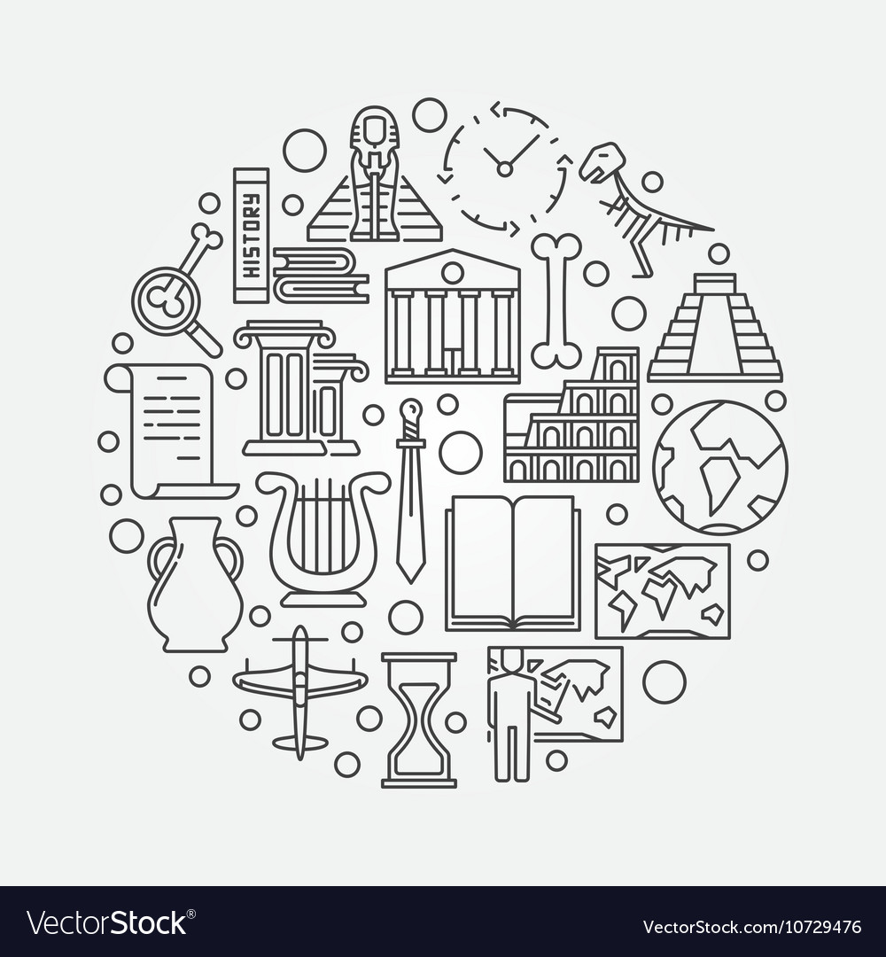 History outline vector image