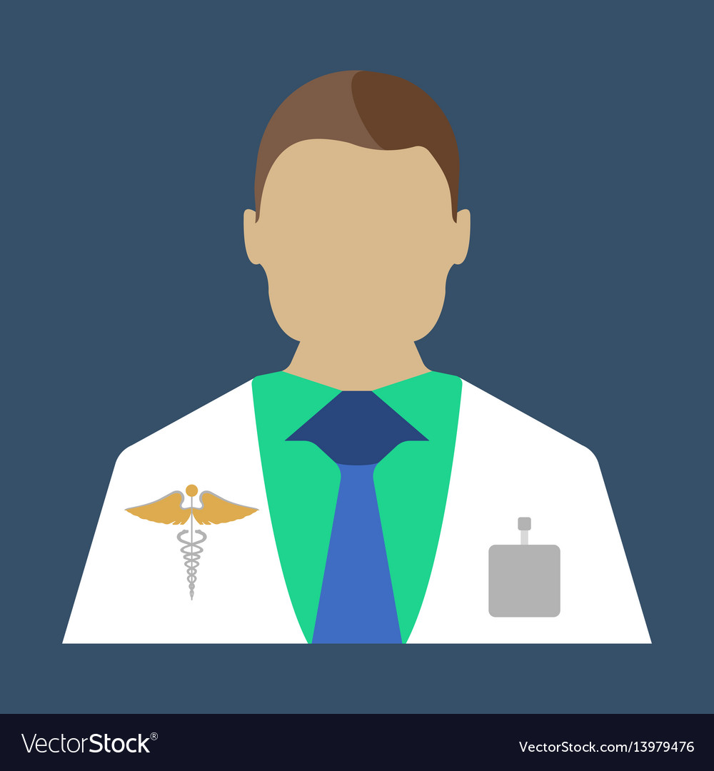 Male doctor medical object flat icon