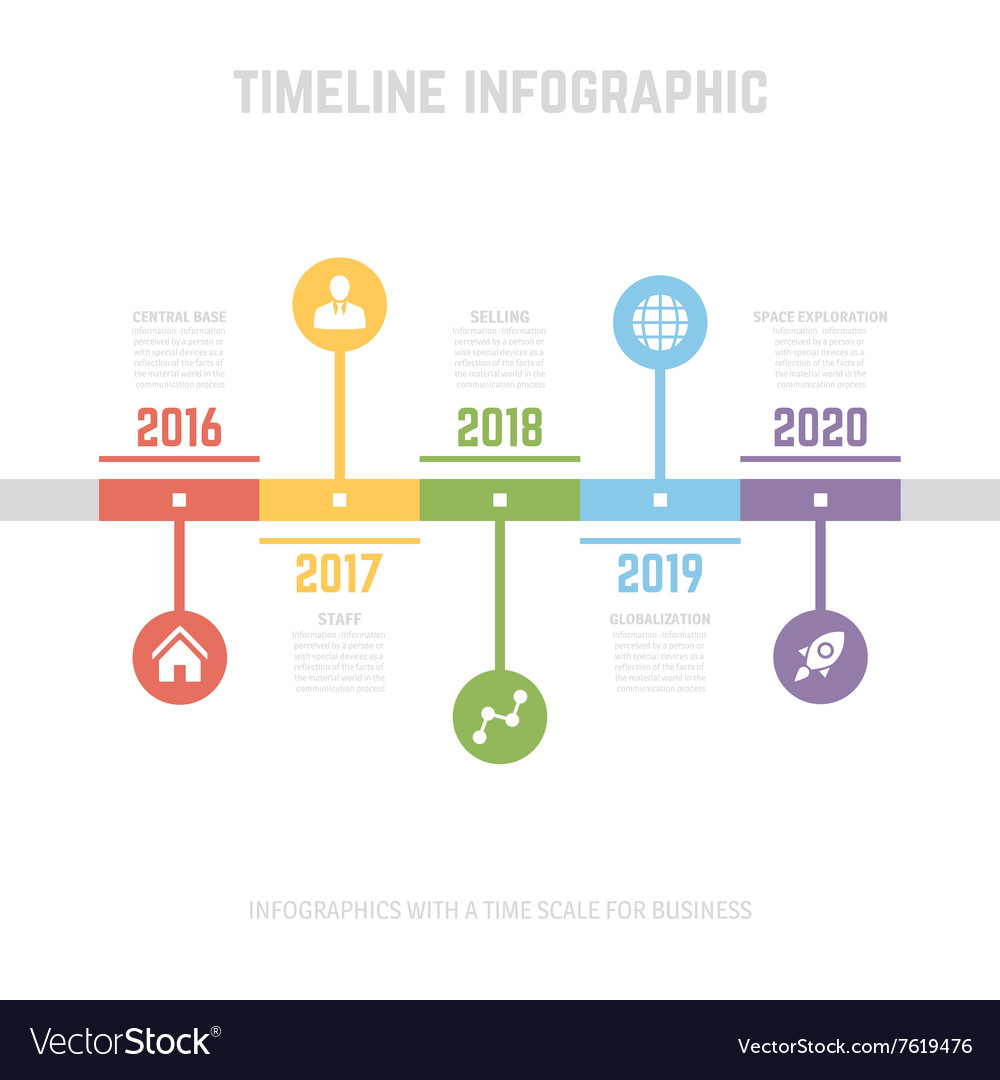timeline infographic design templates royalty free vector