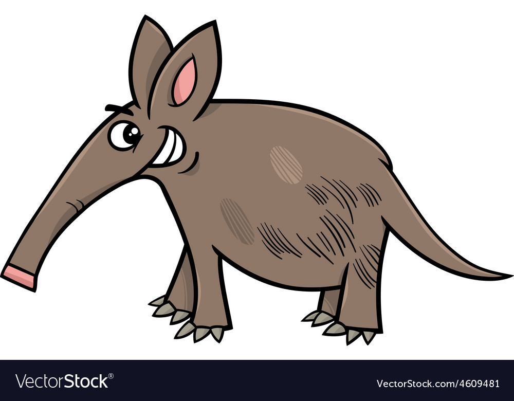Aardvark Animal Cartoon Vector Image
