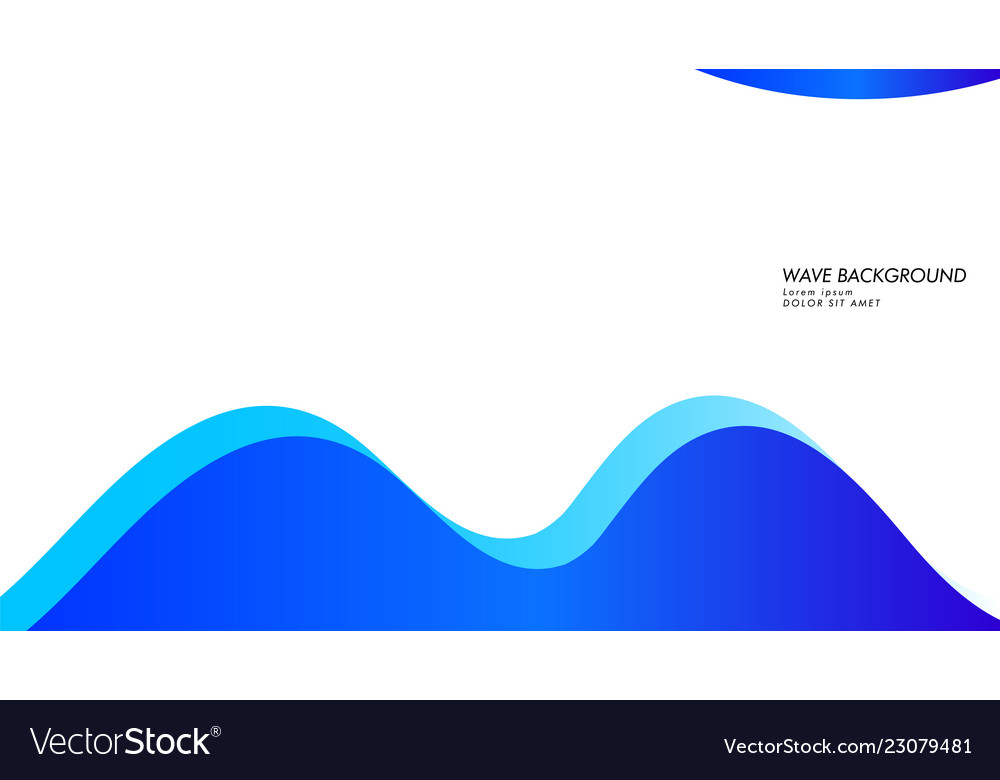 Abstract wave background with blue color
