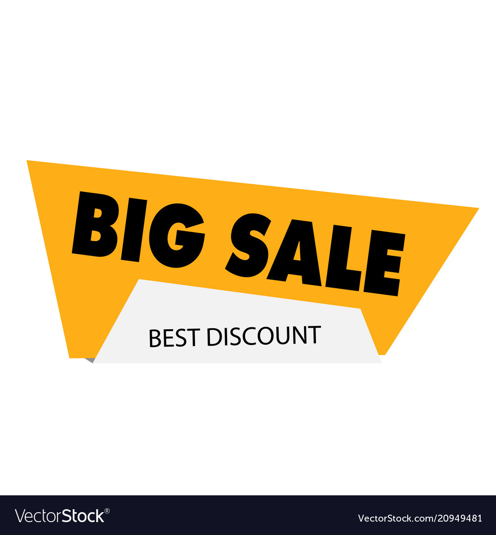 Big sale best discount yellow modern sale banner v