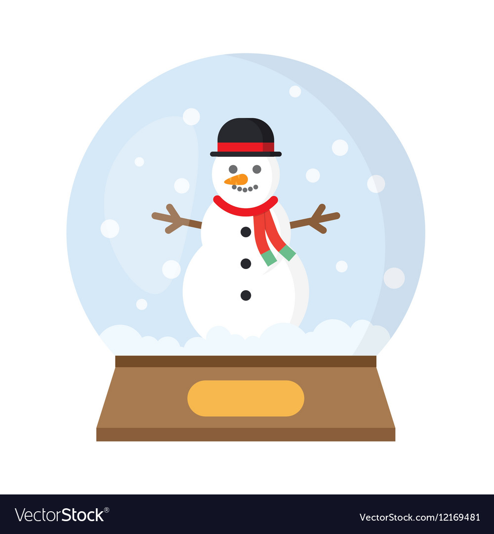 Christmas Snow Globe With funny Snowman